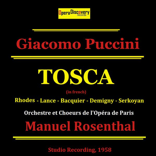 Jane Rhodes - Puccini: Tosca (Remastered - Sung in French)