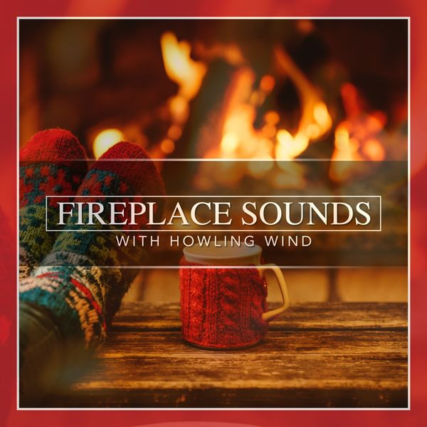 Nature Sounds - Fireplace Sounds with Howling Wind