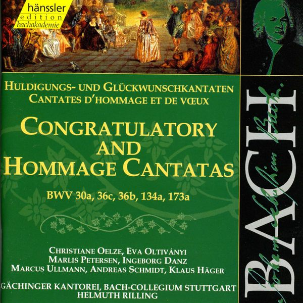 Helmuth Rilling - Bach : Secular Cantatas, BWV 30a, 36c, 36b, 134a, 173a