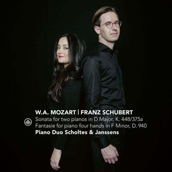 Piano Duo Scholtes and Janssens Sonata for Two Pianos in D Major, K. 448/375a   Fantasie for Piano Four Hands in F Minor, D. 940