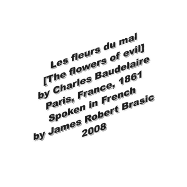 James Robert Brasic - Les fleurs du mal [The flowers of evil] by Charles Baudelaire, Paris, France, 1861