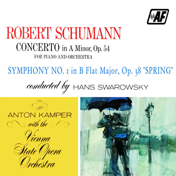 """Vienna State Opera Orchestra - Concerto In A Minor, Op. 54 For Piano And Orchestra, Symphony No. 1 In B Flat Major, Op. 38 """"Spring"""""""