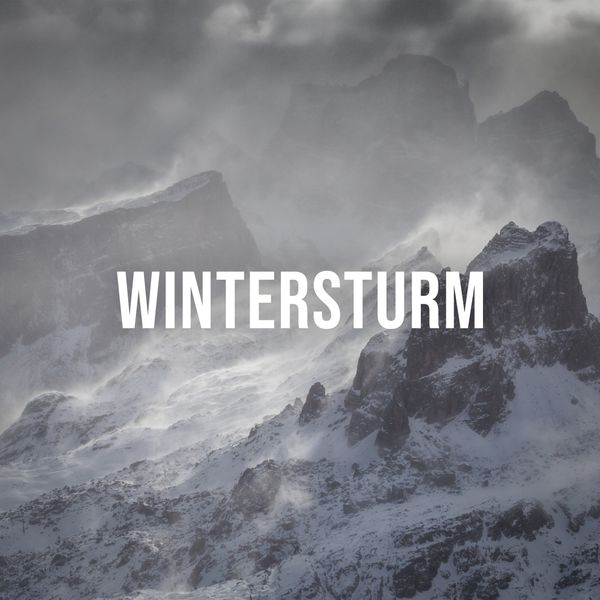 Alpine Sounds - Wintersturm: Feel the Powerful Sounds of a Winter Storm in the Alps, White Noise to Visualize
