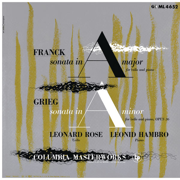 Leonard Rose - Franck: Cello Sonata in A Major, FWV 8 & Grieg: Cello Sonata in A Minor, Op. 36 ((Remastered))