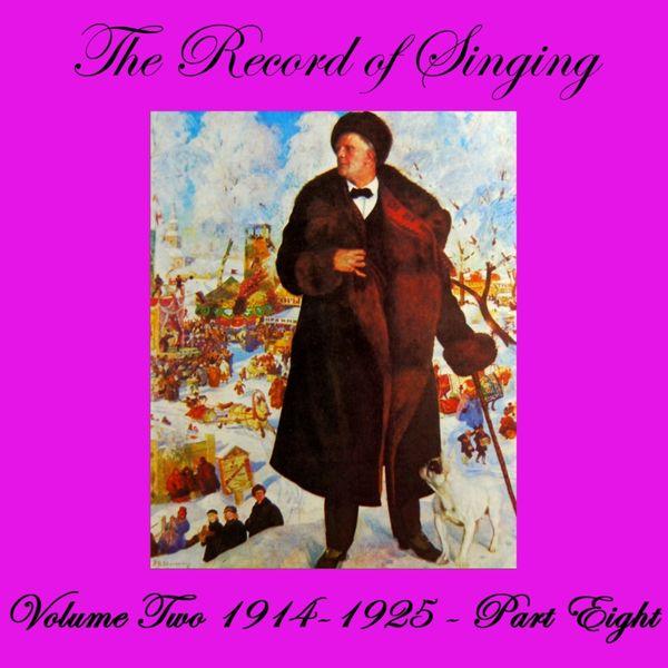 Various Interprets - The Record of Singing, Vol. 2, Pt. 8 (1914-1925)