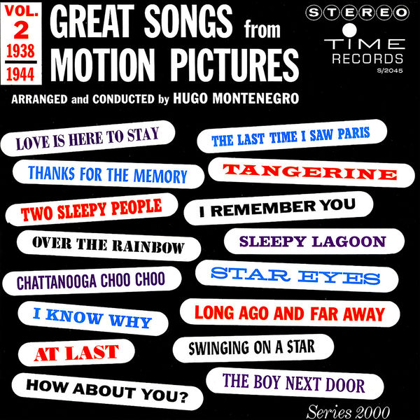 Hugo Montenegro - Great Songs from Motion Pictures, Vol. 2 (1938 - 1944)