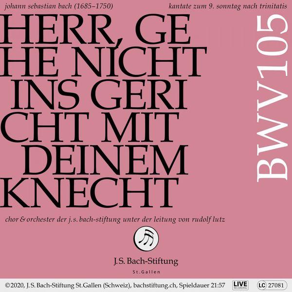 Chor der J.S. Bach-Stiftung - Bachkantate, BWV 105 - Herr, gehe nicht ins Gericht mit deinem Knecht (Live)