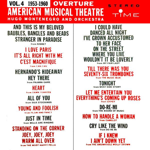 Hugo Montenegro - Overture, American Musical Theatre, Vol. 4 (1953 - 1960)