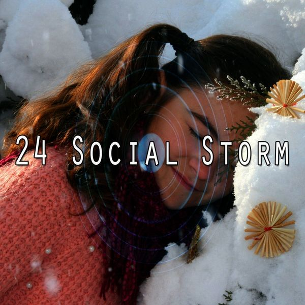 24 Social Storm | Rain Sounds & White Noise to stream in hi-fi, or