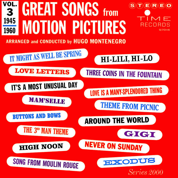 Hugo Montenegro - Great Songs from Motion Pictures, Vol. 3 (1945-1960)