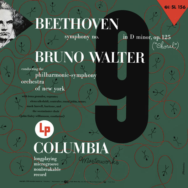 """Bruno Walter - Beethoven: Symphony No. 9 in D Minor, Op. 125 """"Choral"""" (Remastered)"""