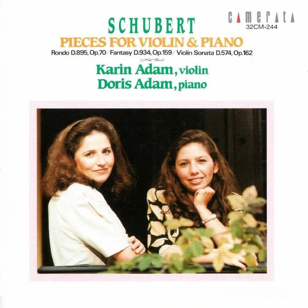 Karin Adam, Doris Adam - Schubert: Pieces for Violin & Piano