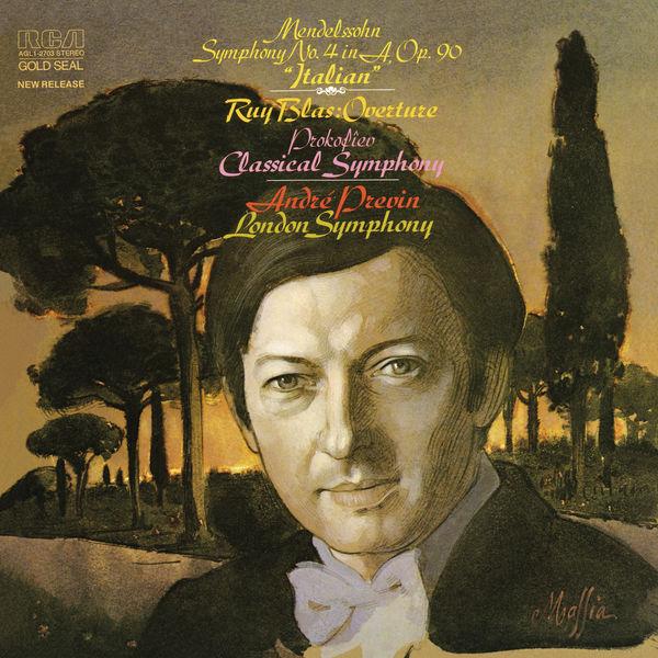 """André Previn - Mendelssohn: Symphony No. 4 in A Major, Op. 90 """"Italian"""" & Prokoviev: """"Classical"""" Symphony No.1 in D Major, Op. 25"""