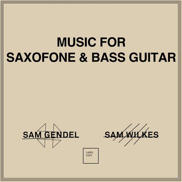 Sam Gendel - Music for Saxofone & Bass Guitar