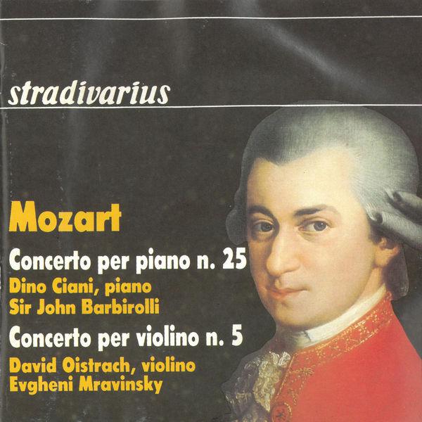 """Dino Ciani - Mozart: Piano Concerto No. 25 & Violin Concerto No. 5 """"Turkish"""""""