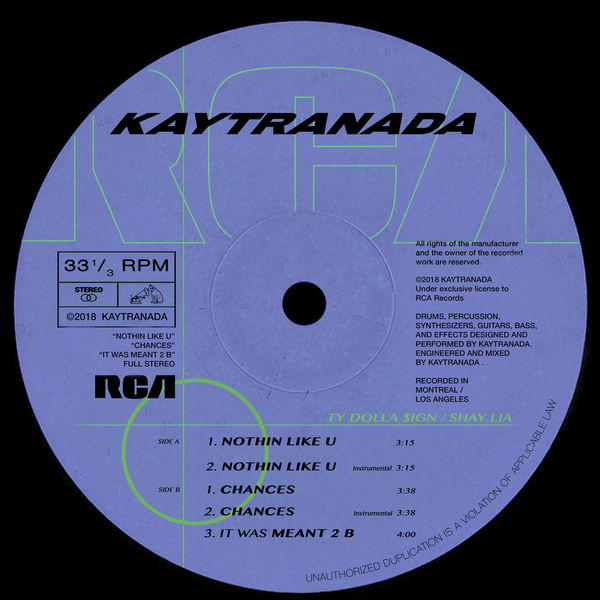 Kaytranada - NOTHIN LIKE U / CHANCES