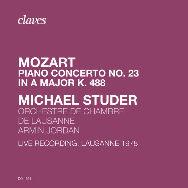 Michael Studer - Mozart: Piano Concerto No. 23 in A Major K. 488 (Live Recording, Lausanne 1978)