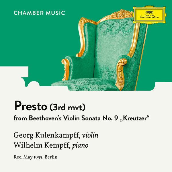 """Georg Kulenkampff - Beethoven: Violin Sonata No. 9 in A Major, Op. 47 """"Kreutzer"""": 3. Presto"""
