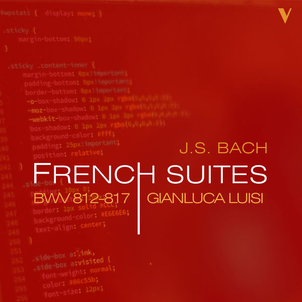 Gianluca Luisi - Bach: French Suites, BWV 812-817