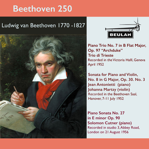 Various Artists - Beethoven 250 Archduke Piano Trio, Violin Sonata No. 8, Piano Sonata No. 27