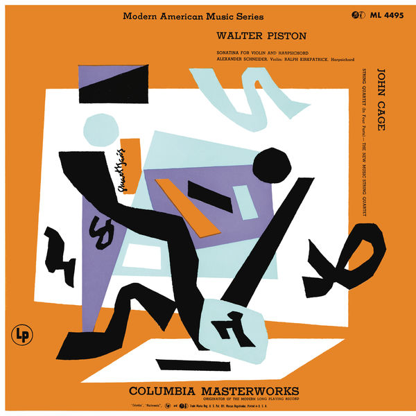 New Music String Quartet - Piston: Sonatina for Violin and Piano & Cage: String Quartet in Four Parts (Remastered)
