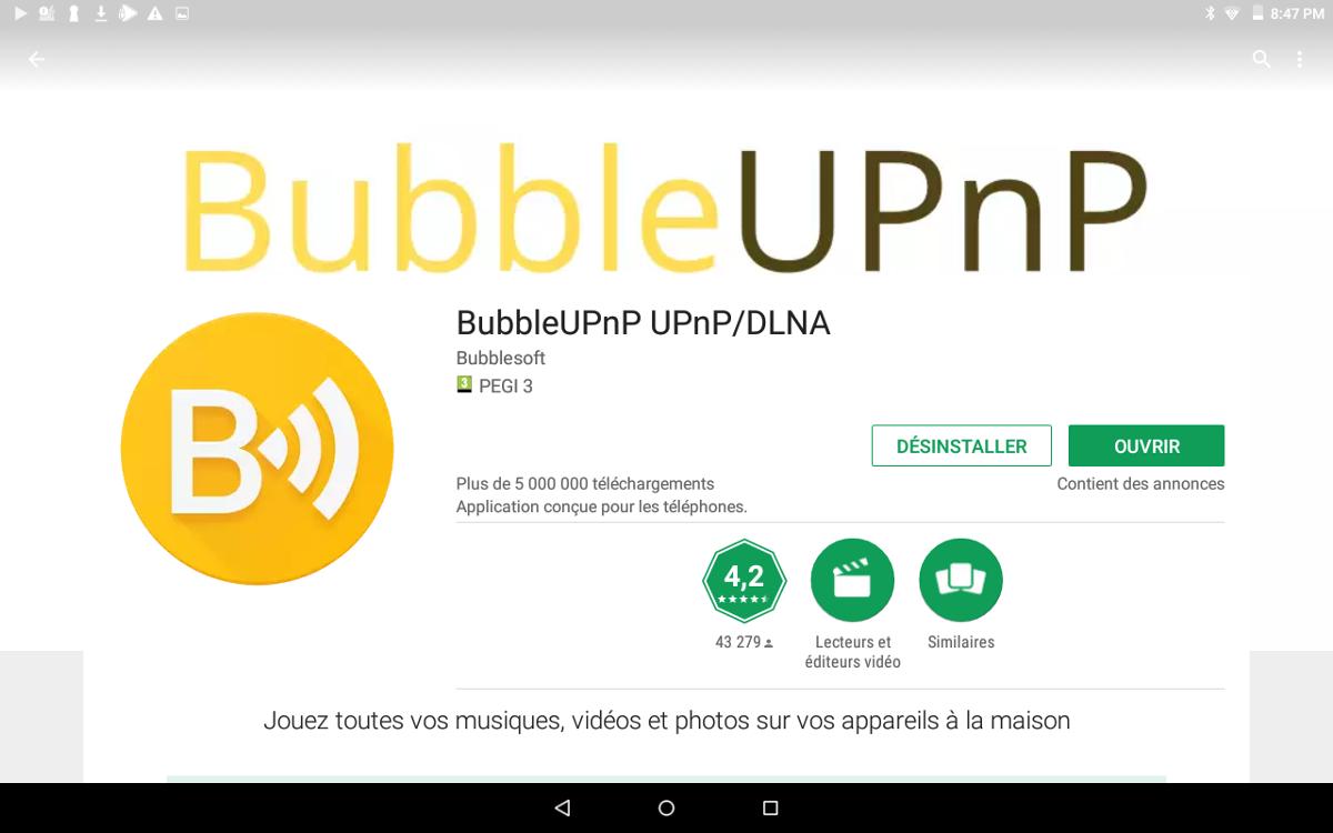 BubbleUPnP : streamez Qobuz en Hi-Res depuis un smartphone