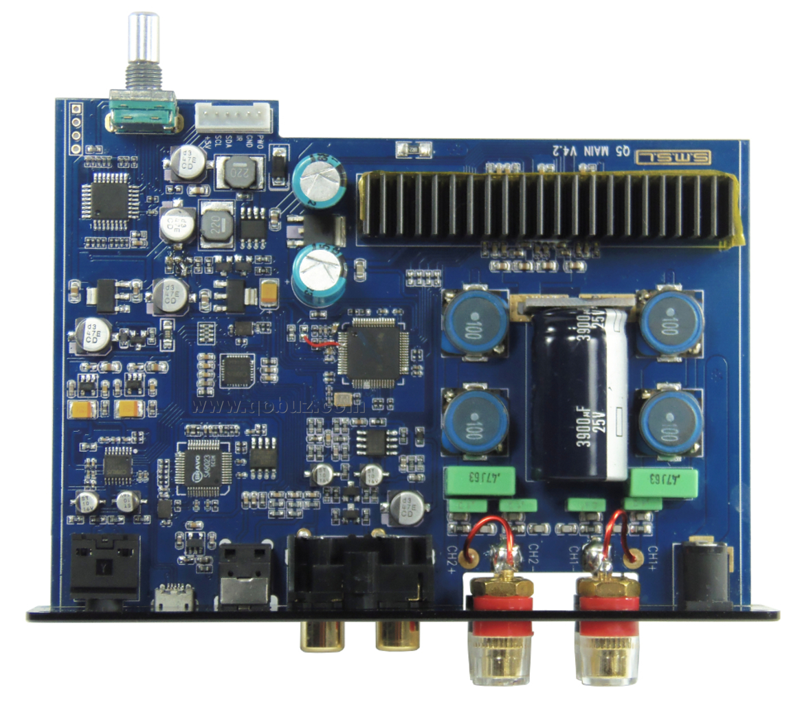 Comparison Four Digital Amplifiers Audio Benchmarks Usable If A Friend Wants Music Amplifier Circuit I Thinks This We Note Also The Large Electrolytic Capacitor Of 3900 F 25v Serving As Reservoir For Current Amplification Active Filter Subwoofer Is Built