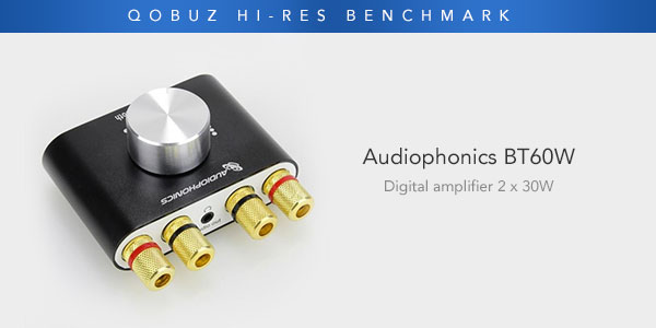 Audiophonics BT60W: this tiny 2 x 30W/4Ω amplifier is more than a