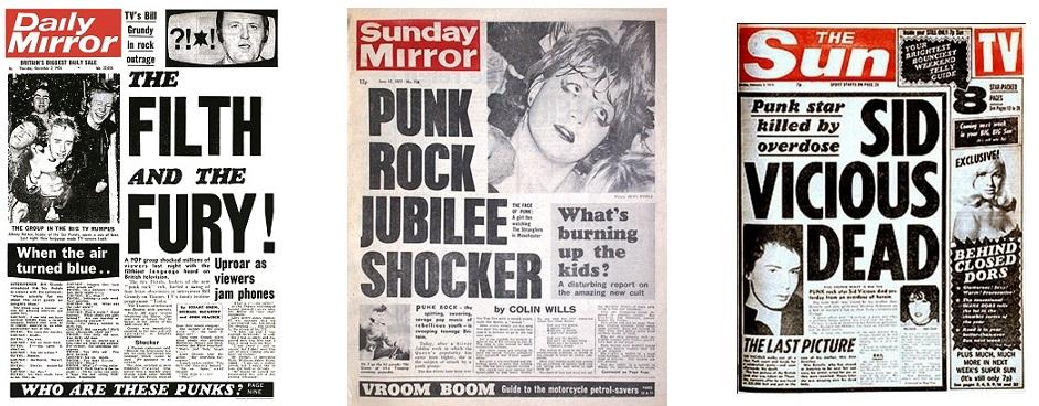 Les Sex Pistols, stars des tabloïds britanniques...